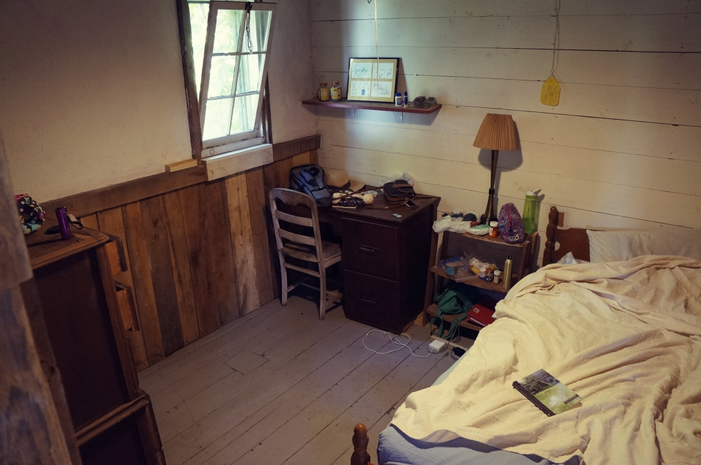 This is my bedroom! Small and cozy.