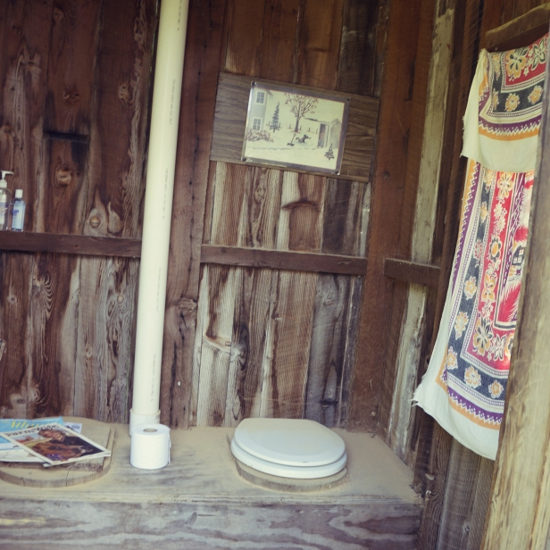 The outhouse is nicer than I anticipated.