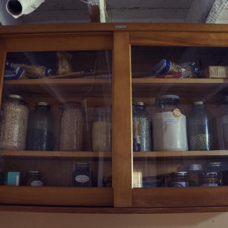 Stocked full of grains.